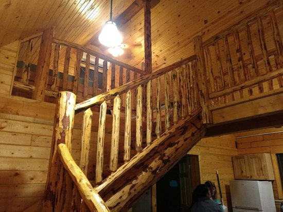 Jefferson, IA: Stairs to cabin Loft