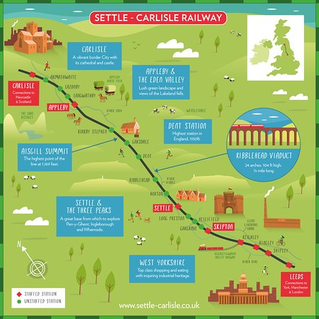 Settle Carlisle map