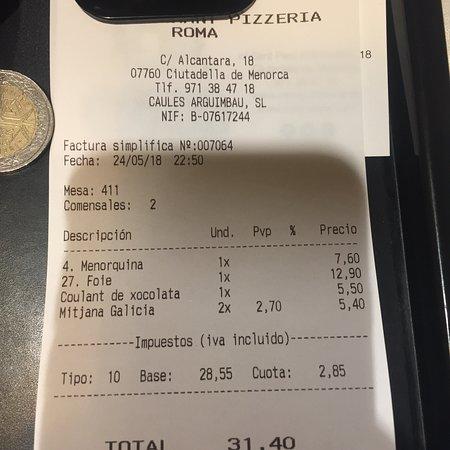 Bilde fra Roma Pizzeria