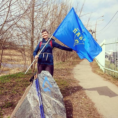 Lavra Trail: Старт 2 этапа от камня-указателя в Тайнинском.