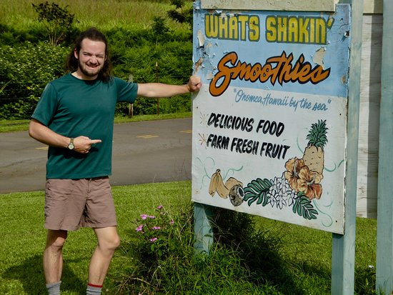 Pepeekeo, HI: The small sign on the 4-mile scenic highway north of Hilo