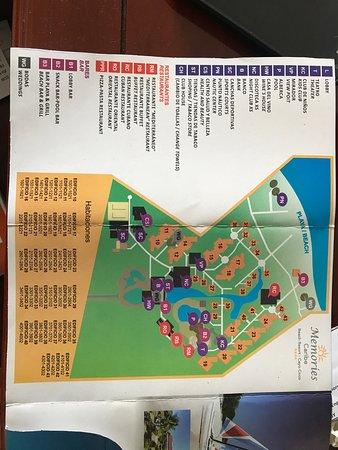 Memories Caribe Beach Resort: Resort map