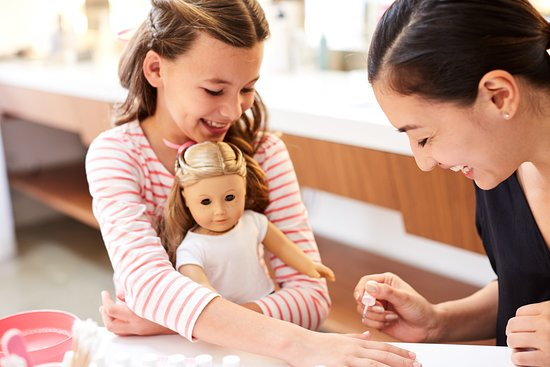 American Girl Place New York: Girls - and dolls - can enjoy mini-manicures the American Girl Salon