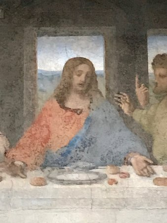 Leonardo's Last Supper Tickets: Detail from the last supper
