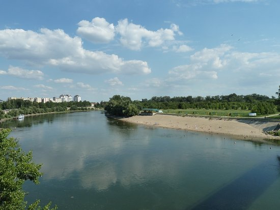 Transnistria, Moldova: Der Grenzfluss Dnjepr