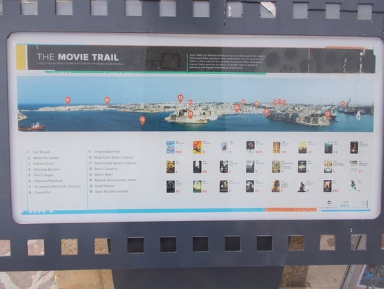 Movie Trail showing film locations on display at Upper Barrakka Gardens