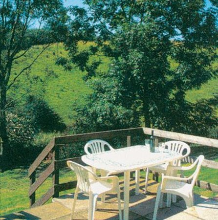 Seven Springs Cottages: Sherbourne Patio overlooking the extensive grounds