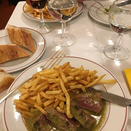 Great steak and fries