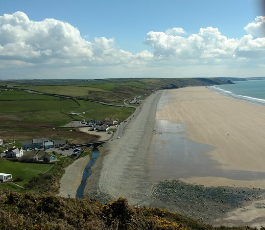 Beach at Newgale, Pembrokeshire, Wales (from North)
