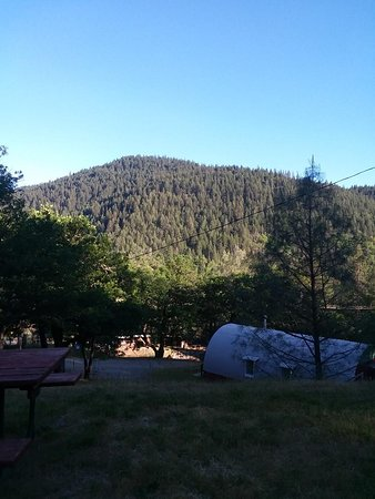 Lewiston, CA: View on hill from cabin-super