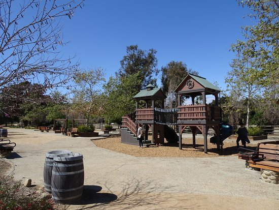 San Juan Capistrano, CA: Pioneer-style play equipment