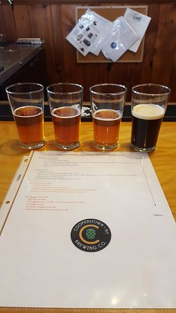 Milford, NY: Four samples of beer