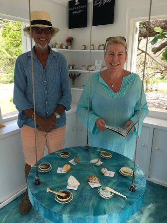 Spring Bay, Bequia: The Grenadine SeaSalt tasting bar at Firefly Plantation