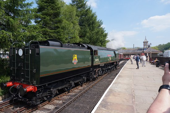 The East Lancashire Railway: The City of Wells locomotive at ELR