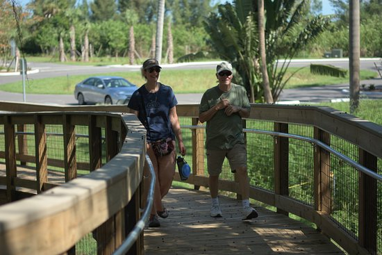Robinson Nature Preserve: Visitors at the new NEST Visitor Center.