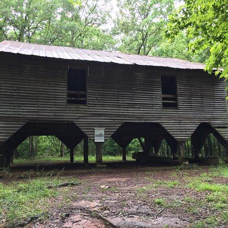 Historic Brattonsville: inside cabin