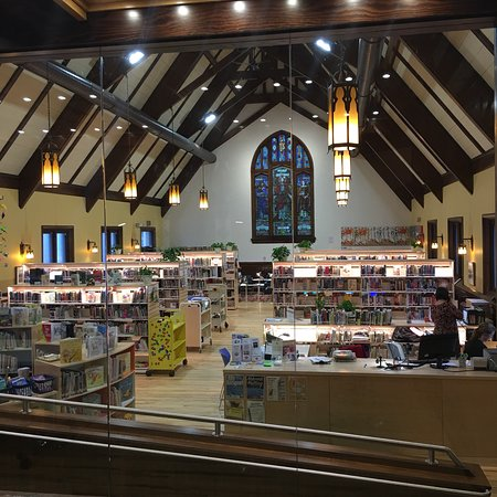 We loved visiting the Kentville Library.  It's now in an old stone church, which was recently re