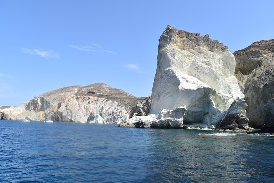 SemiPrivate Standard Santorini Catamaran Cruise with Greek buffet and drinks: On the way to white beach