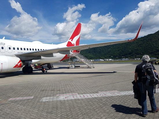 Qantas: getting used to walking out of the tarmac to catch flights