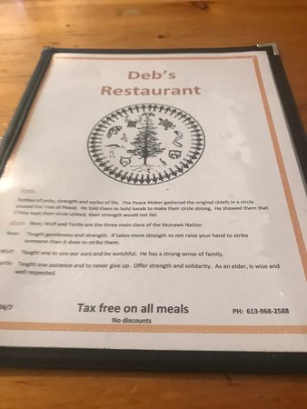 Menu Cover - Picture of Deb's Gas Bar & Restaurant