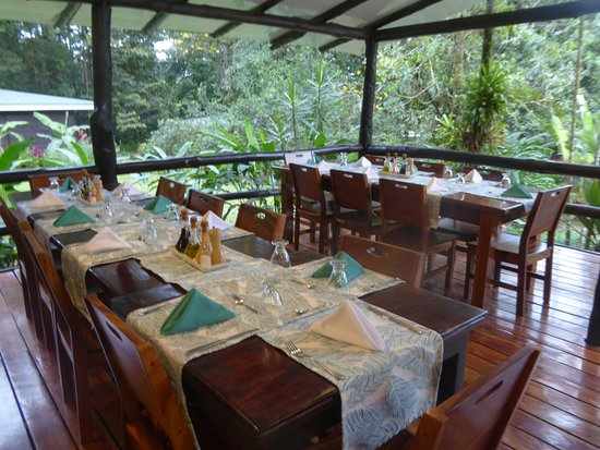 Chachagua, Kosta Rika: Breakfast and Dining Area