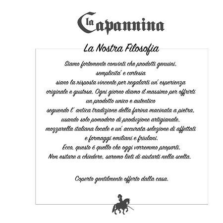 San Gregorio nelle Alpi, Italy: La nostra filosofia