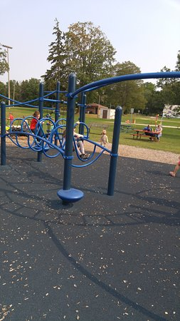 Ingersoll, Canada: Playground with new equipment.