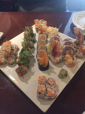 Zen Asian Sushi Bar and Grill: Six roll variety pack.