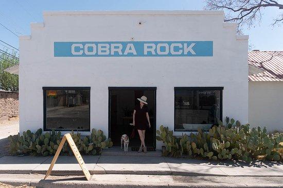 Marfa, TX: Store Front #woodythefurrydog