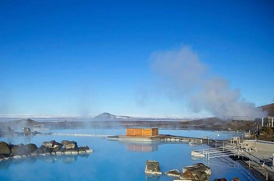神の滝godafossとmyvatn自然の風呂