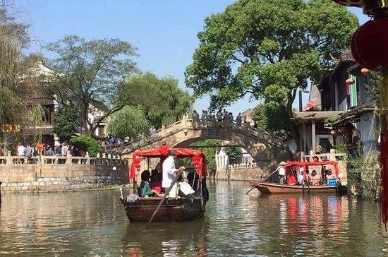 Fengjing Water Town och Shanghai City ...