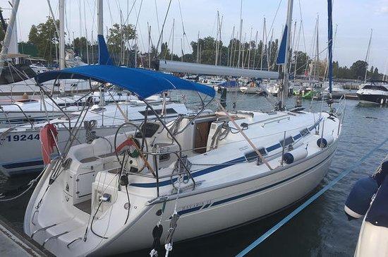 Sailing on Lake Balaton, Hungary