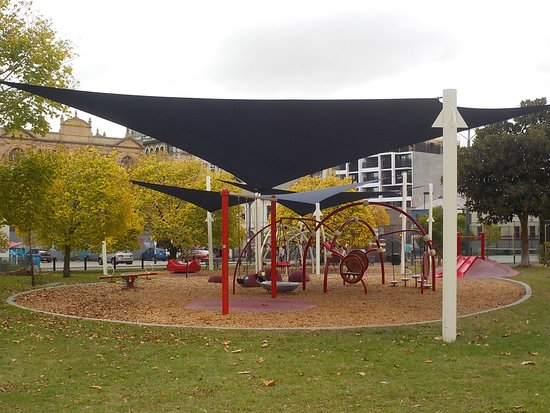 Prahran, Australien: shaded playground