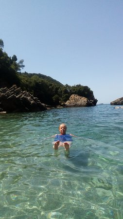 Liapades Beach: water was great for swimming and crystal clear