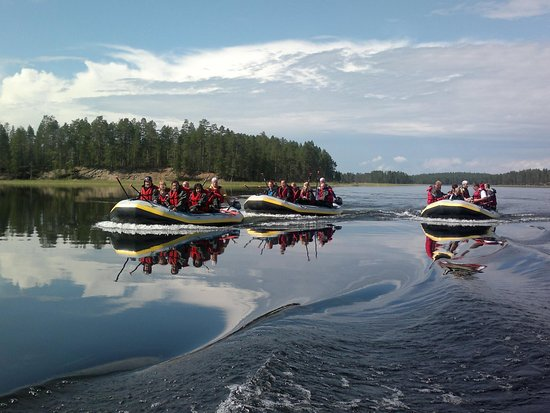 Ruka, Finland: River Rafting Family Route