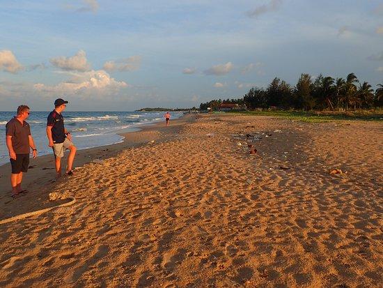Palm Beach Nilaveli Hotel : Sunset walk along the beach. *sigh* plastic pollution from the sea