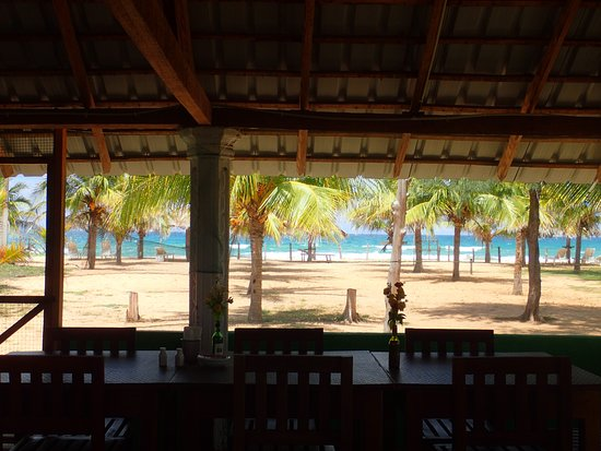 Palm Beach Nilaveli Hotel : View at lunchtime.