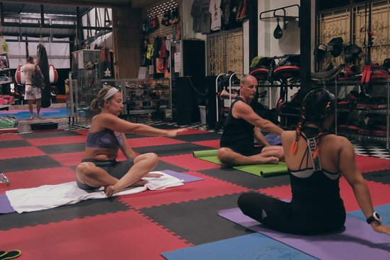 Combat 360X Muay Thai, MMA And Fitness: Yoga and fitness classes at Comat 360X in Khao Lak, Thailand