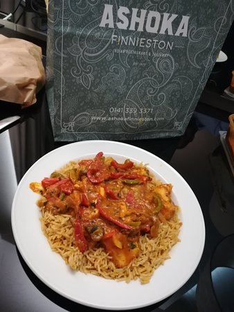 Ashoka Finnieston: Chicken Breast Himalayan Hot Pot with Pilau rice and keema naan