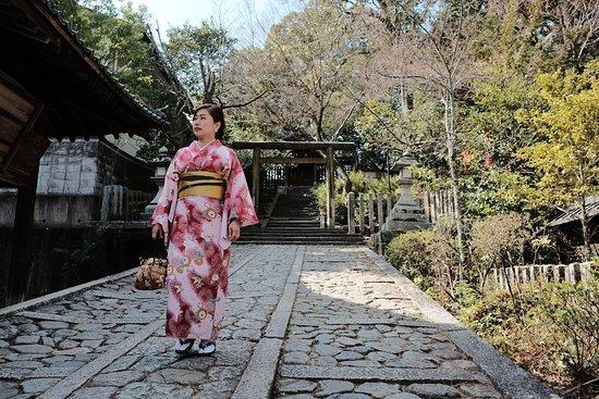 Imamiya Shrine: slope to different shrine