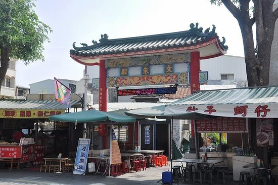 Wenzhu Temple: この奥にあり、門の上にも「文朱殿」とあった