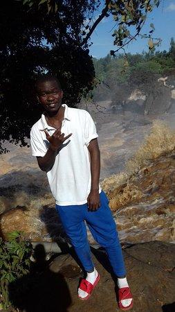 Thika, Kenya: my friend having fun