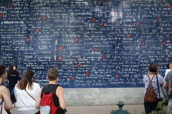 Paris Always Walk: A famous mosaic about love in a Montmarte garden
