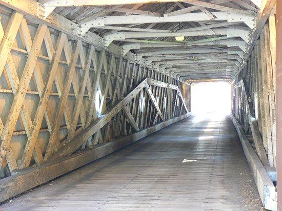 West Cornwall, CT: View through bridge
