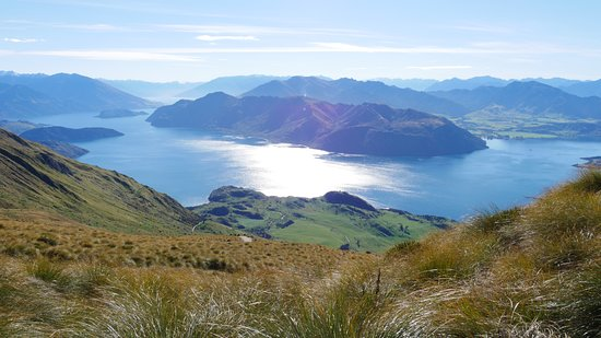 Roys Peak Track: View on lake Wanaka (not from summit)