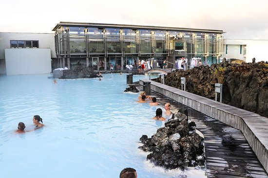 Blue Lagoon: Looking back at the changing and spa area