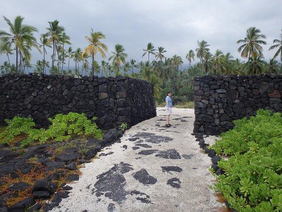 Honaunau, Hawaï: The wall
