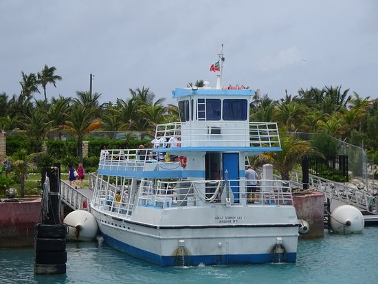 Great Stirrup Cay: Transportation from the NCL Sky.