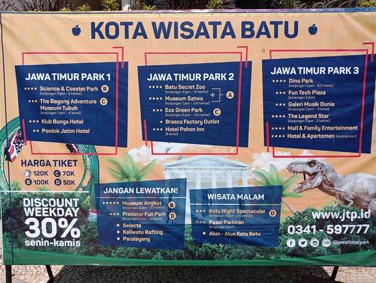 Jawa Timur Park 2: Daftar obyek wisata