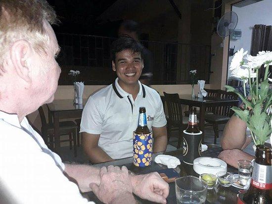 Mickey Restaurant: Mickey is enjoy with his customer